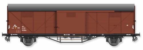 Artitec 20.311.06 - Dutch Box Car Hongaar S-CHK NS 21 000, brown, IIIc