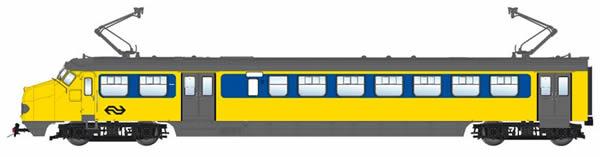 Artitec 21.405.01 - Dutch Electric Railcar HK4 790 IC, single arm pantograph, AC, LokPilot