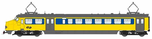 Artitec 21.405.02 - Dutch Electric Railcar HK4 787 IC, double arm pantograph, AC, LokPilot