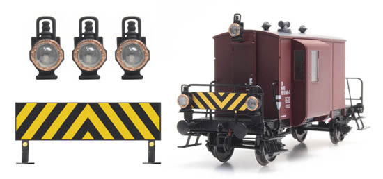 Artitec 28.115 - Dutch warning board + 3 oil lamps for Dg