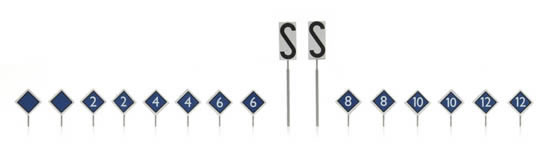 Artitec 316.031 - Dutch Platform Stop Signs (16 pieces)