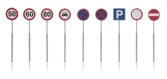 Artitec 316.046 - Dutch Traffic Signs (9 pieces)