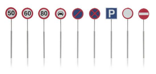 Artitec 316.046 - Dutch Traffic Signs (9 pieces)