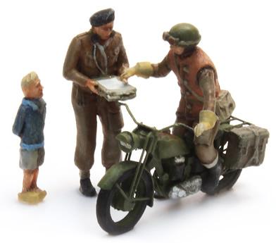 Artitec 387.131 - UK Triumph Motorcycle + 3 Fig.