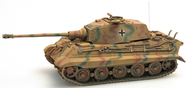Artitec 387.19-CM - Henschel TIGER II Tank with Zimmerit anti-magnetic mine coating (Summer-camouflage)