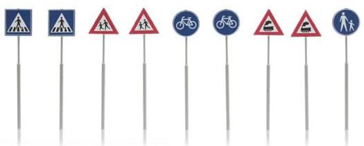 Artitec 387.215 - European Traffic Sign (9 pieces)