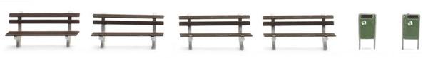 Artitec 387.244 - Set of Park Benches (4pieces)