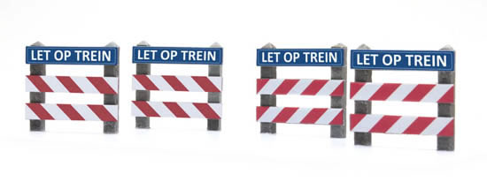 "Artitec 387.362 - Dutch warning sign railroad crossing ""LET OP"""