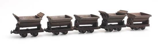 Artitec 387.396 - 5 narrow-gauge tipper wagons