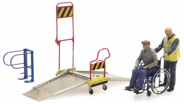 Artitec 387.447 - Wheelchair ramp and 2 figures