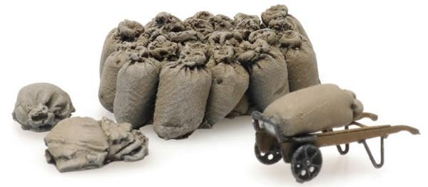 Artitec 387.450 - Burlap sacks with cart