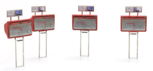 Artitec 387.459 - Letter boxes red-grey (4x)