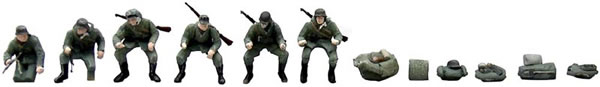 Artitec 387.47 - German Army Soldiers, Motorcycle Riders w. Rifles, Autumn