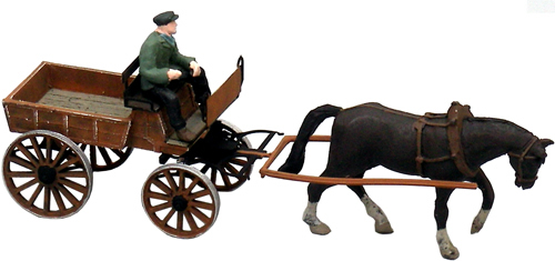 Artitec 387.57 - German Market Cart w Horse and Driver