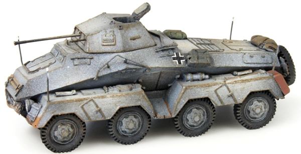 Artitec 387.71-WG - German Army Sdkfz 231 8-wheel,  20mm gun, winter gray