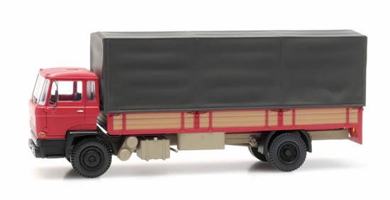Artitec 487.051.02 - DAF tilt-cab A open bed truck with canvas red