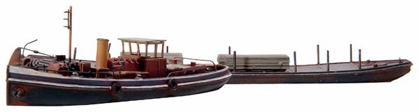 Artitec 58.101 - Canal steamer towing craft and towed barge