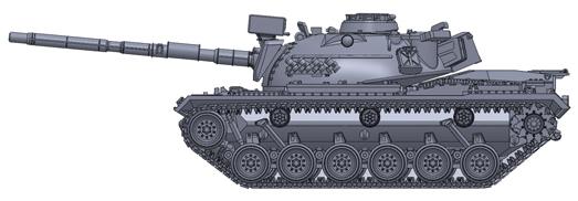 Artitec 6160050 - BRD M48 A2 G A2 yellow-olive paint scheme battle ready German Army