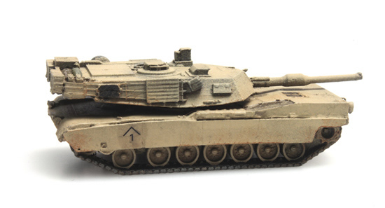 Artitec 6160078 - M1A1 Abrams Desert N train load