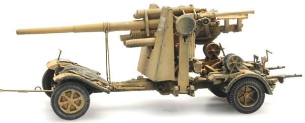 Artitec 6870070 - German Wehrmacht (WWII) 88mm FLAK 18 Gelb
