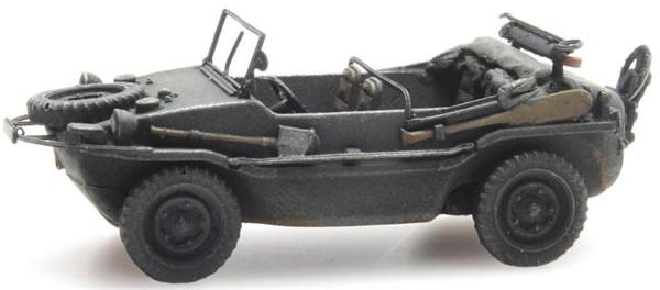 Artitec 6870073 - German Wehrmacht (WWII) Schwimmwagen VW 166 K2s Grau