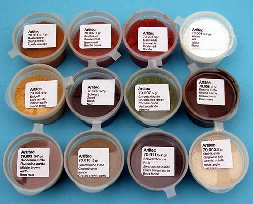 Artitec 70.000 - Set of 12 powders of various colors (weathering powder)