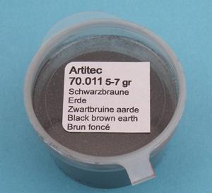 Artitec 70.011 - Mineral Paint Black-brown Earth-tone (weathering powder)