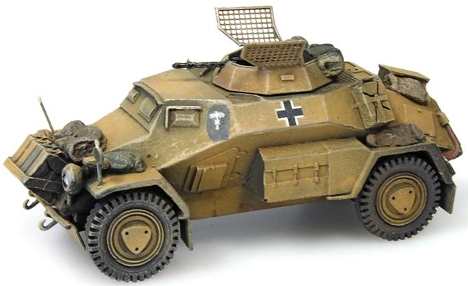 Artitec 387 105-YW - German Army Sd  Kfz 221 4-wheel MG34 Gb