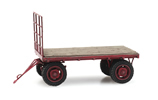 Flat bed farm wagon