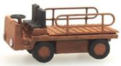 Electr. platform truck orange