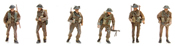 UK Infantry  ( 6 Fig.)