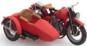 US Liberator motor red + sidecar