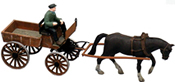 German Market Cart w Horse and Driver