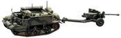 Universal carrier with 6 pounder anti-tank gun