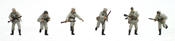 German infantry set 2 w/ winter uniforms (6 fig)