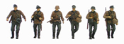 German infantry set 1 w/ camouflage uniforms (6 fig)