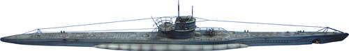 Artmaster 180418 - Class VII C submarine (portion above the waterline)