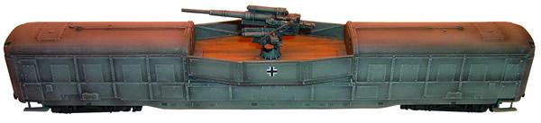Artmaster 80022 - Heavy anti-aircraft rr-car w/ 88mm anti-aircraft gun