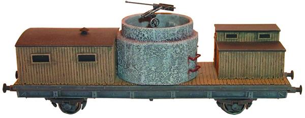 Artmaster 80024 - Anti-aircraft rr-car w/ one concrete-pipe bunker (w/ anti-aircraft gun)