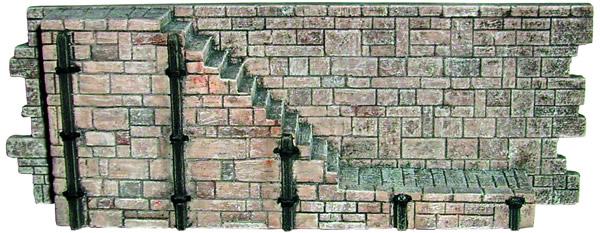 Artmaster 80369 - Sandstone seawall steps (1 piece plus flooring)