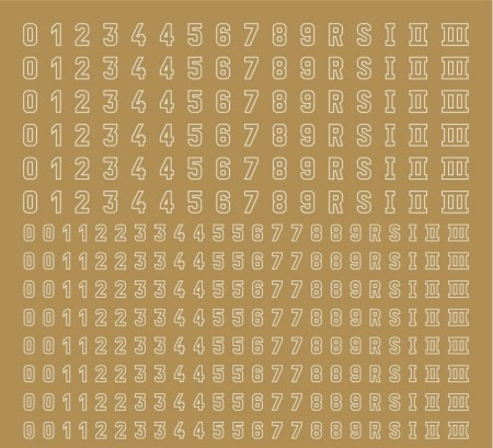 Artmaster 85014 - Tower numbers 2 (dry transfer)
