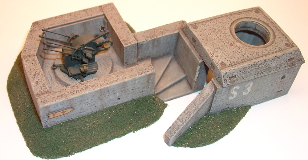Artmaster 180007 - anti-aircraft position with protective bunker