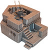 22mm anti-aircraft gun bunker (w/o gun)