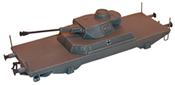 Tank destroyer railroad car w/ Pz IV turret