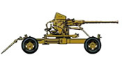 BOFORS 40mm swedish-manufactured anti-aircraft gun