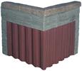 Pile wall, concrete, right angles (2 per pack)