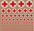 Red crosses (round) (dry transfer)