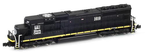 AZL 61009-2 - Illinois Central SD70 1019 black w/ yellow stripe