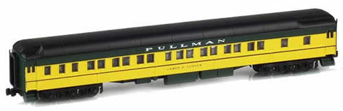 AZL 71205-1 - 8-1-2 Pullman Sleeper JAMES N. GLOVER CNW Yellow & Green
