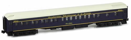 AZL 71209-3 - Nashville, Chattanooga & St. Louis 8-1-2 Pullman Sleeper Rock Cabin L&N Blue